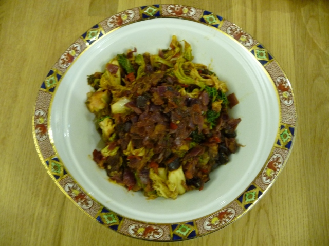 Aubergine and Cabbage