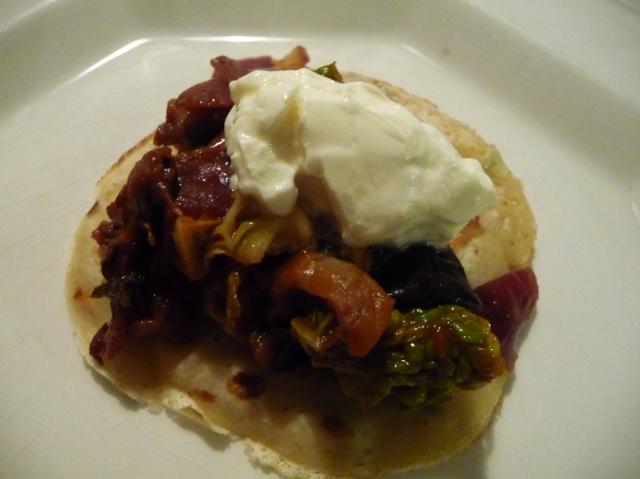Aubergine Cabbage Cumin Pancake