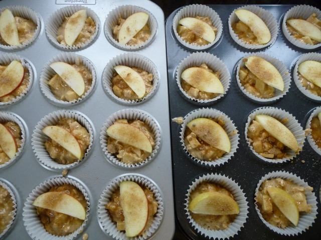 Apple Breakfast Muffins ready for the oven