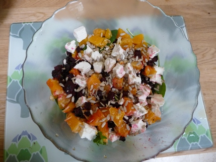 Balsamic Beetroot, Orange and Feta Salad