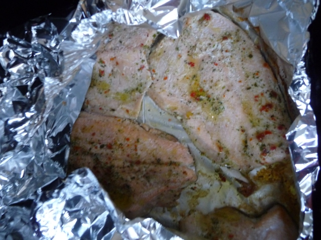 Rainbow Trout in Foil