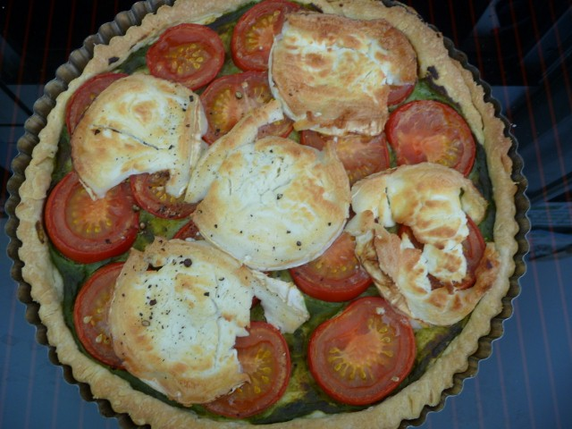 Tomato, Goats Cheese and Mustard Tart